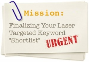 Finalize targeted keyword shortlist